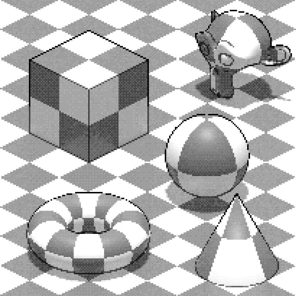 Isometric Pixel Art in Blender